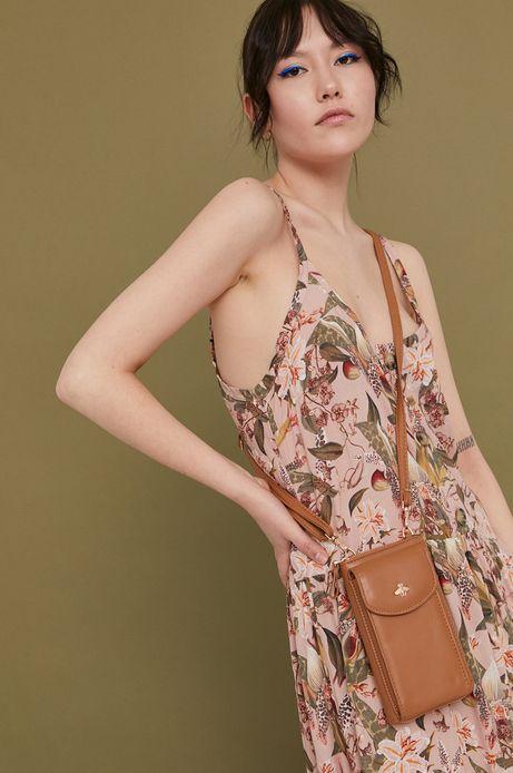 Portfel damski z dopinanym paskiem brązowy