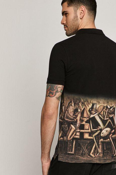 Polo męskie z kolekcji EVIVA L'ARTE czarny