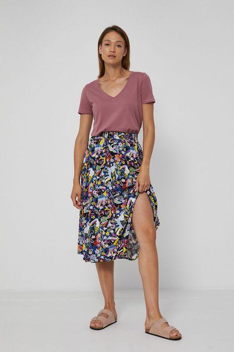 Rozkloszowana spódnica damska w kwiatowy wzór