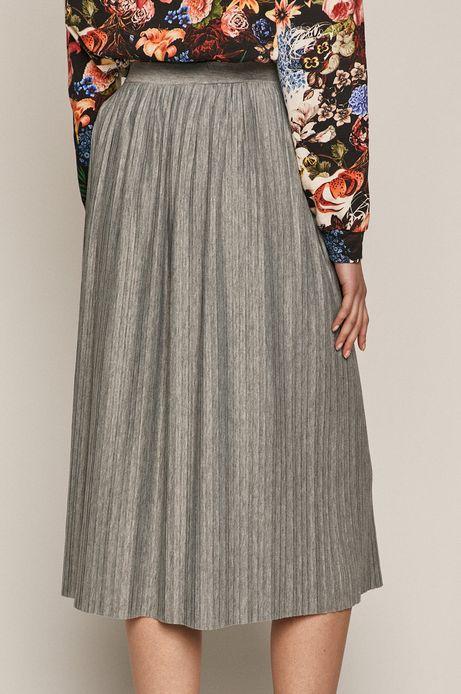 Spódnica damska plisowana szara
