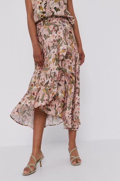 Spódnica damska z falbankami beżowa