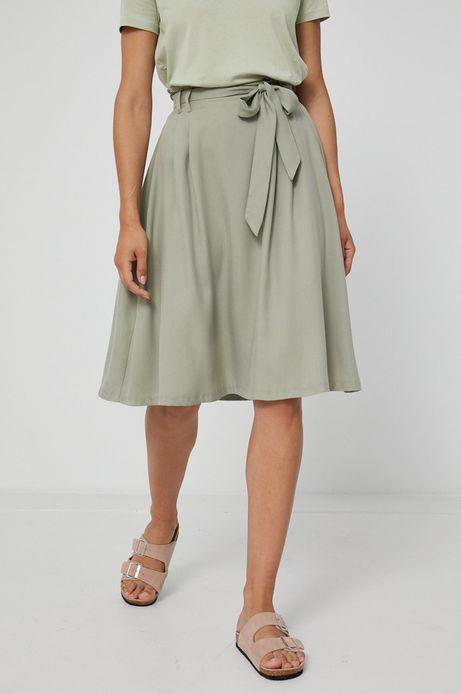 Spódnica damska z lyocellu zielona