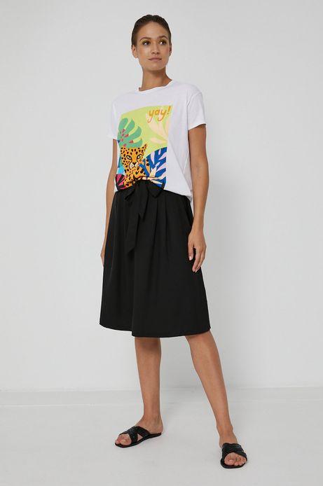 Spódnica damska z lyocellu czarna