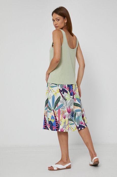 Spódnica damska z marszczeniami turkusowa