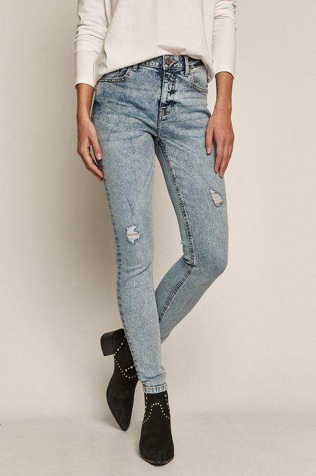 Jeansy damskie skinny niebieskie