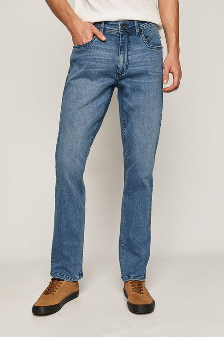 Jeansy męskie straight z bawełny organicznej niebieskie