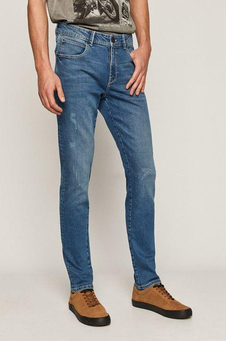 Jeansy męskie ECO WASH z bawełny organicznej w fasonie slim niebieskie