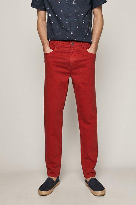 Jeansy męskie tapered czerwone