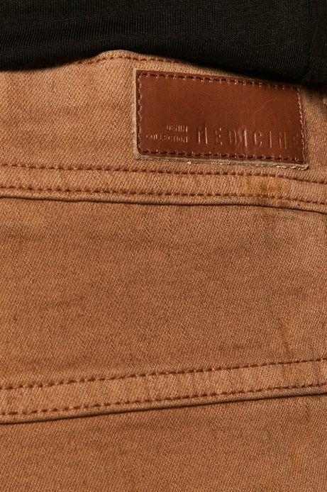 Jeansy męskie tapered brązowe