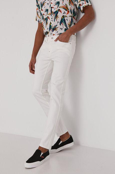 Jeansy męskie slim białe