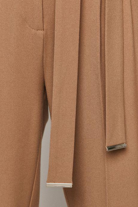 Spodnie damskie w kant beżowe