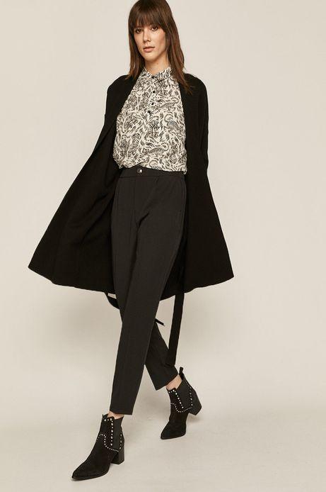 Spodnie damskie w kant czarne