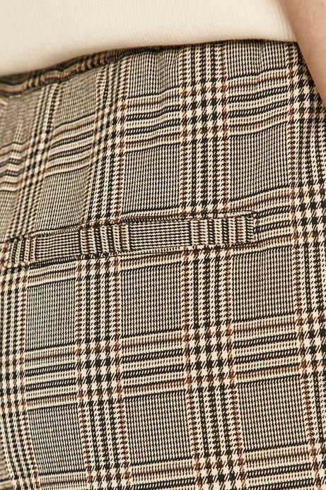 Spodnie damskie w kant z tkaniny w kratkę