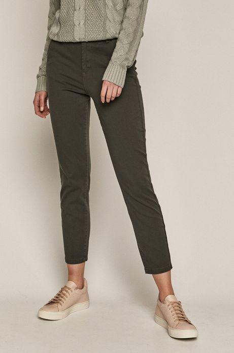 Spodnie damskie chino zielone
