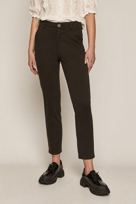 Spodnie damskie chino czarne