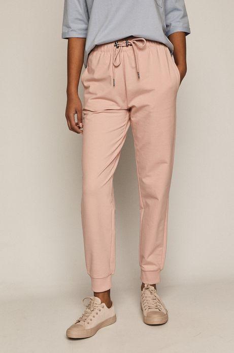 Spodnie damskie z bawełny organicznej różowe