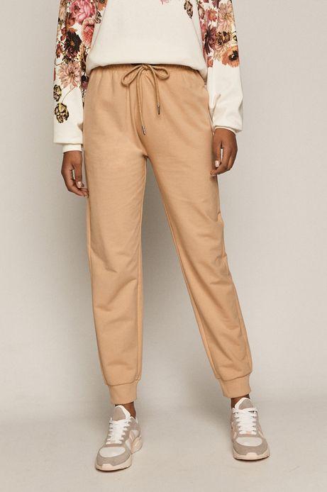 Dresowe spodnie damskie z bawełny organicznej beżowe