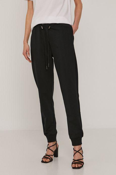 Dresowe spodnie damskie z bawełny organicznej czarne