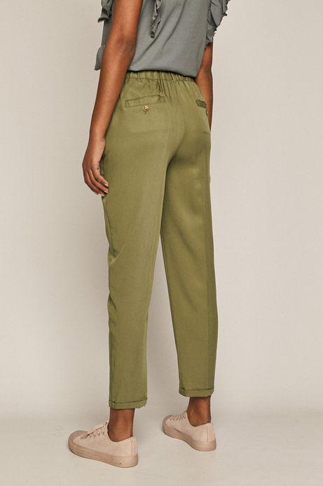 Spodnie damskie z lyocellu zielone