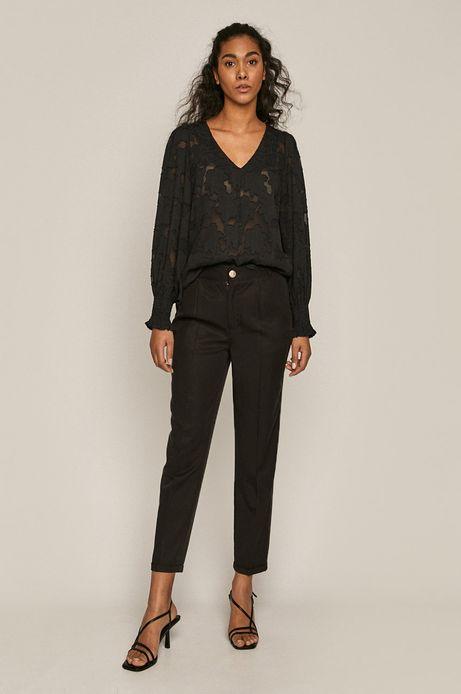 Spodnie damskie z lyocellu czarne