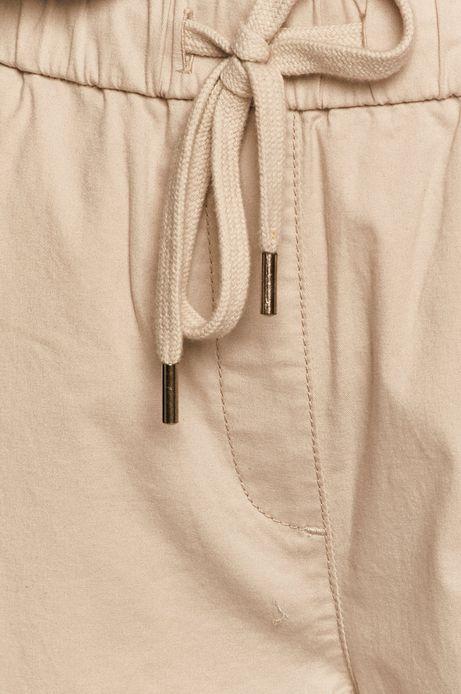 Spodnie damskie chino kremowe