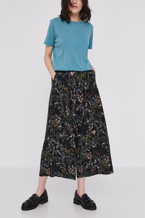 Wzorzyste spodnie damskie culotte czarne