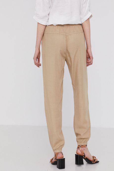 Spodnie damskie joggery z lyocellu beżowe