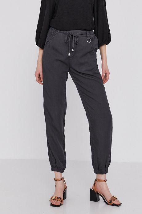 Spodnie damskie z lyocellu szare