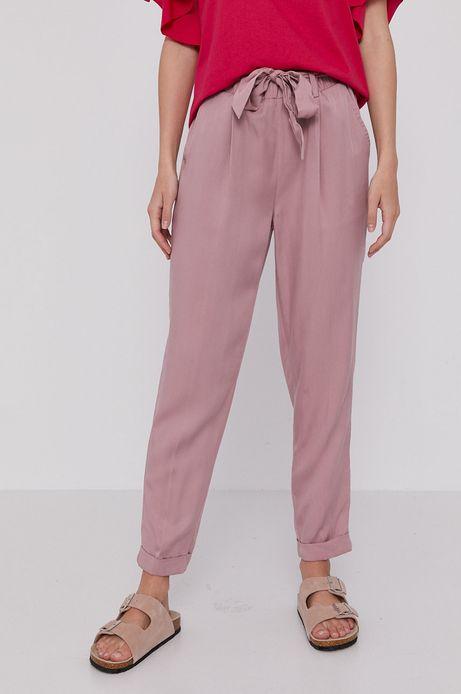 Spodnie damskie z lyocellu różowe
