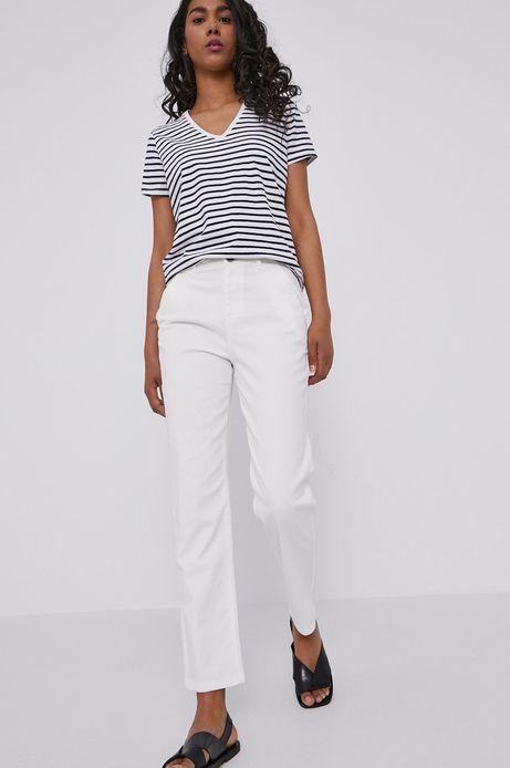 Spodnie damskie chino białe