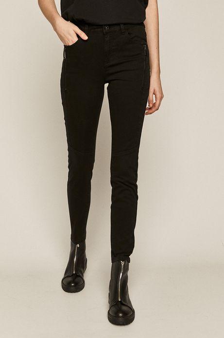 Spodnie damskie z suwakami czarne