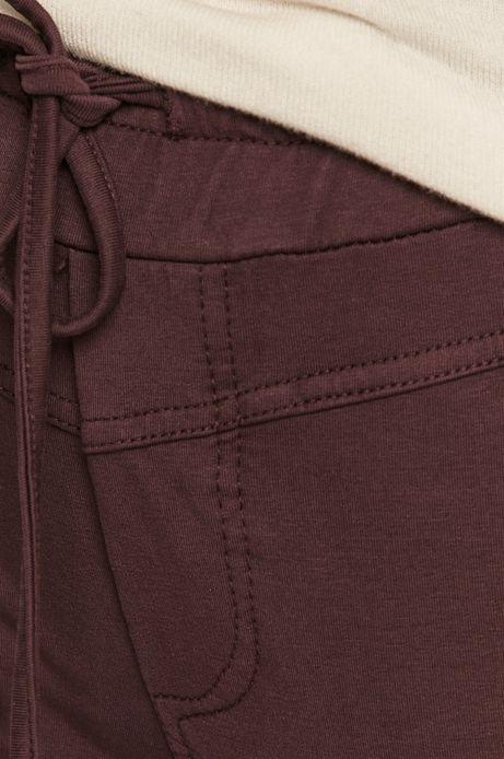 Spodnie damskie dresowe fioletowe