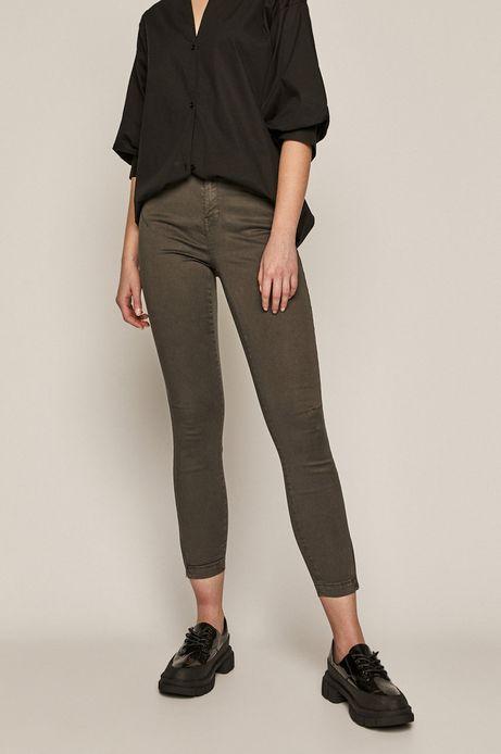 Spodnie damskie z suwakami szare