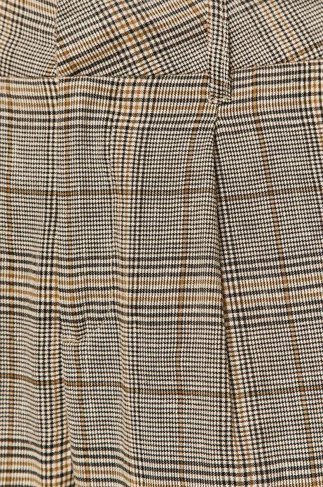 Spodnie damskie lniane w kratkę