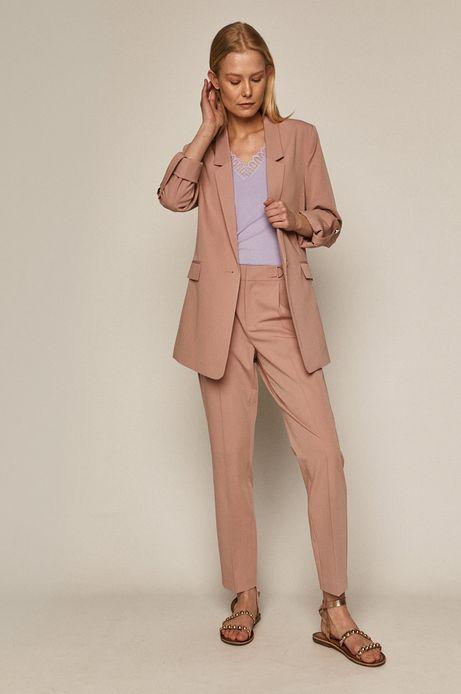 Spodnie damskie w kant różowe