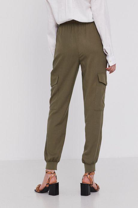 Spodnie damskie cargo z lyocellu zielone