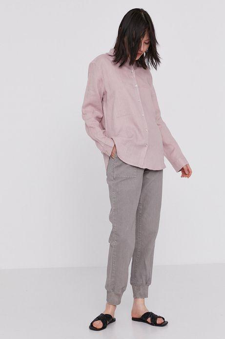 Bawełniane spodnie damskie joggery szare