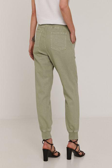 Bawełniane spodnie damskie joggery zielone