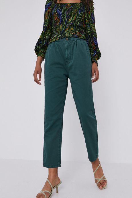 Spodnie damskie paper bag zielone