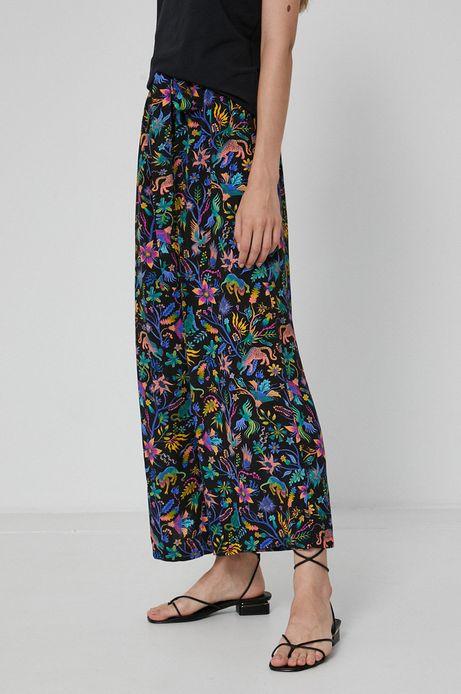 Wzorzyste spodnie damskie culotte