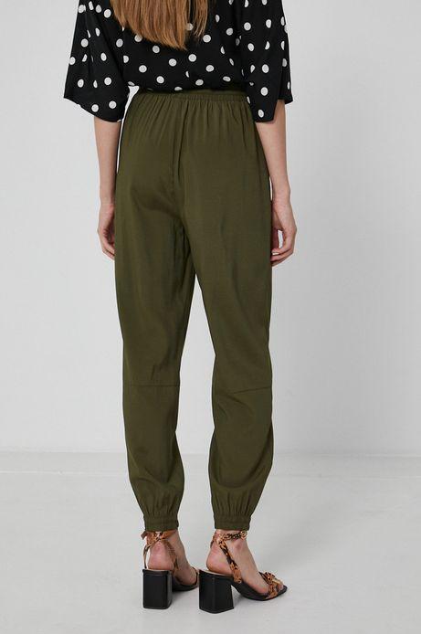 Spodnie damskie joggery zielone