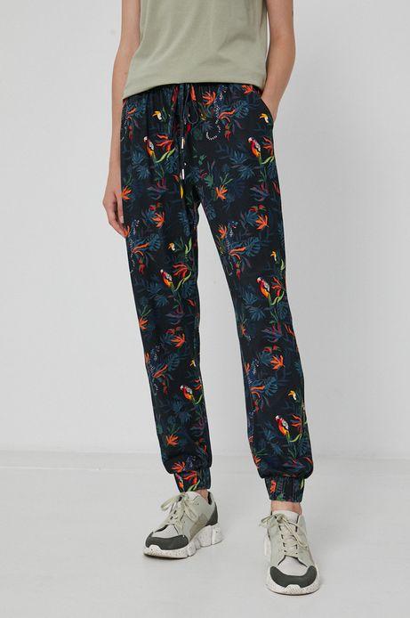 Spodnie damskie joggery wzorzyste