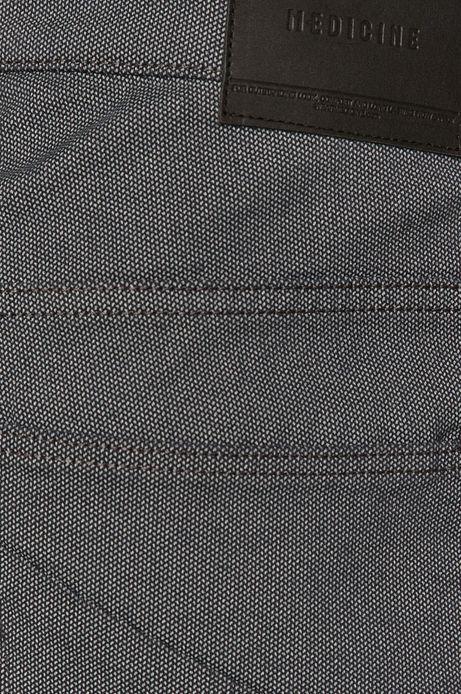 Spodnie męskie w drobny wzór granatowe