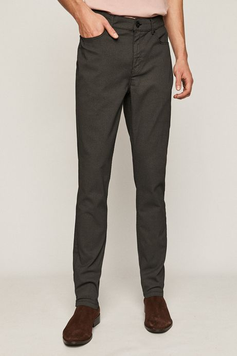 Spodnie męskie w drobny wzór czarne