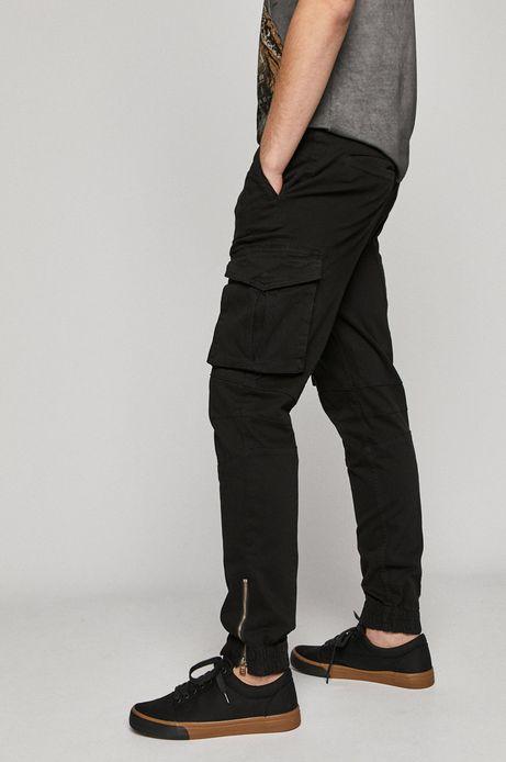 Spodnie męskie joggery z kieszeniami cargo czarne