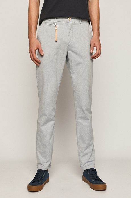Bawełniane spodnie męskie chino niebieskie