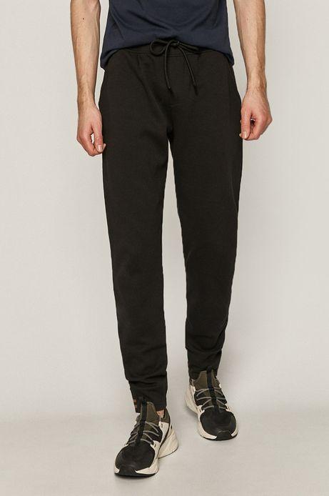 Spodnie męskie z dzianiny strukturalnej czarne