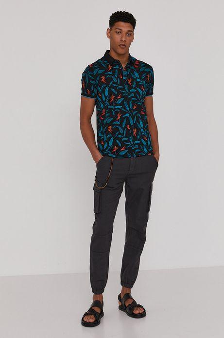 Spodnie męskie cargo z lnem i bawełną organiczną czarne