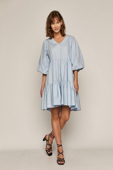 Sukienka damska w kształcie litery A z recyklingu niebieska