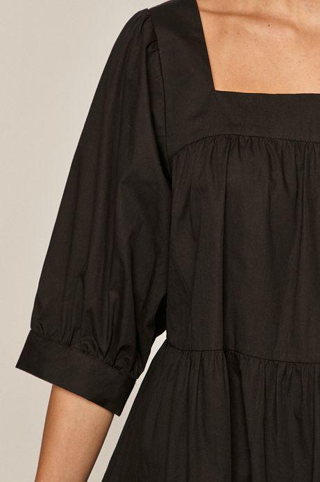 Sukienka damska z bawełną z recyklingu czarna
